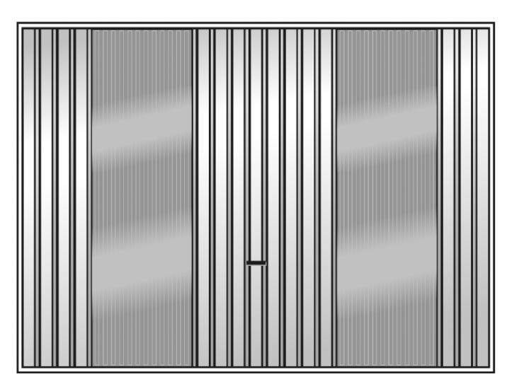 US+Pol brama z przeszkleniem z tafli