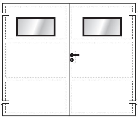 DPN- płaskie drzwi dwuskrzydłowe