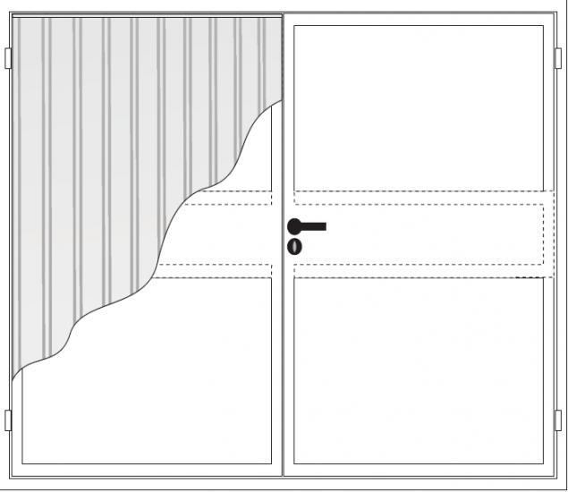 DTN- bramy dwuskrzydłowe trapezowe
